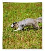 Southern Fox Squirrel Fleece Blanket