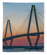 Southern Glow Over The Cooper Fleece Blanket