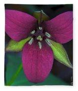 Southern Red Trillium Fleece Blanket