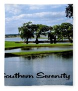 Southern Serenity Fleece Blanket