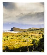 Southern Tip Of Bruny Island Fleece Blanket