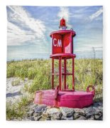 Southernmost Point Buoy- Cape May Nj Fleece Blanket