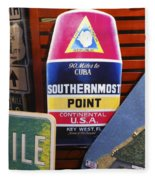 Southernmost Point Fleece Blanket