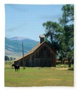 Southfork Barn Fleece Blanket