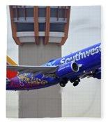 Southwest 737-7l9 N7816b Coco Phoenix Sky Harbor November 30 2017 Fleece Blanket
