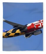 Southwest Airlines Boeing 737-7h4 N214wn Maryland One Phoenix Sky Harbor December 23 2010 Fleece Blanket