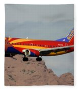 Southwest Boeing 737-3h4 N383sw Arizona Phoenix Sky Harbor December 20 2015  Fleece Blanket