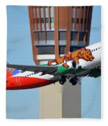 Southwest Boeing 737-3h4 N609sw California One Phoenix Sky Harbor January 21 2016 Fleece Blanket