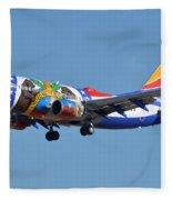 Southwest Boeing 737-7h4 N280wn Missouri One Phoenix Sky Harbor January 24 2016 Fleece Blanket