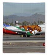 Southwest Boeing 737 California At Phoenix Sky Harbor November 10 2010 Fleece Blanket