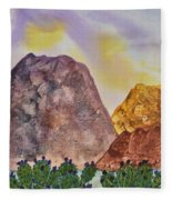 Southwest Landscape II Fleece Blanket