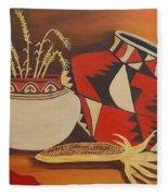 Southwest Pottery Fleece Blanket