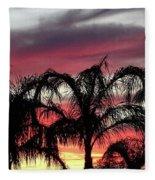 Southwest Sunset Fleece Blanket