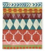 Southwestern 1- Art By Linda Woods Fleece Blanket
