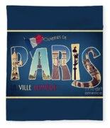 Souvernirs De Paris Fleece Blanket