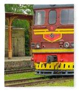 Soviet Era Train In Haapsalu Estonia Fleece Blanket