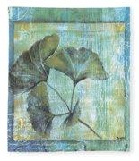 Spa Gingko Postcard 1 Fleece Blanket