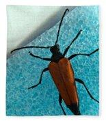 Space Age Beetle Fleece Blanket