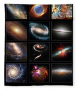 Space Beauties Fleece Blanket