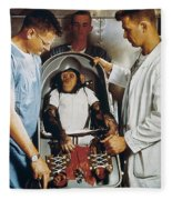 Space: Chimpanzee, 1961 Fleece Blanket