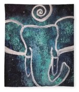 Space Elephant Spiral 2 Fleece Blanket