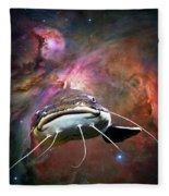 Space Fish Fleece Blanket