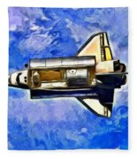 Space Shuttle In Space - Pa Fleece Blanket