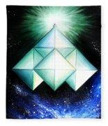 Space Shuttle Of Alien Civilization. High-speed Fleece Blanket