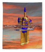 Space Station 3 Fleece Blanket