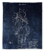Space Suit Patent Illustration Fleece Blanket