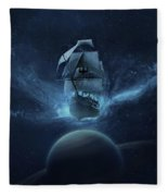 Spaceship Fleece Blanket