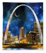 Spacey St. Louis Skyline Fleece Blanket