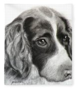 Spaniel Drawing Fleece Blanket