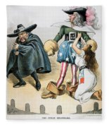 Spanish-american War, 1896 Fleece Blanket