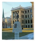 Spanish American War Memorial At Lucas County Courthouse 0098 Fleece Blanket