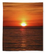 Spanish Banks Sunset - Digital Oil Fleece Blanket