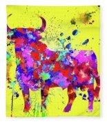 Spanish Bull  Toro Bravo Fleece Blanket