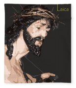 Spanish Christ Fleece Blanket