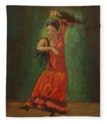 Spanish Dancer 2 Fleece Blanket