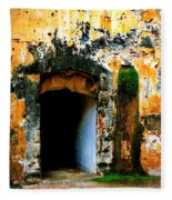 Spanish Fort Doorway Fleece Blanket