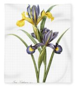 Spanish Iris Fleece Blanket