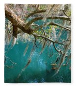 Spanish Moss And Emerald Green Water Fleece Blanket