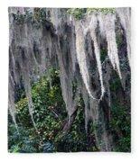 Spanish Moss Panorama Fleece Blanket