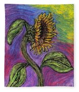 Spanish Sunflower Fleece Blanket