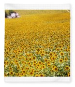 Spanish Sunflowers Fleece Blanket