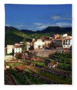 Spanish Terraces Fleece Blanket