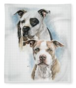 Sparkle And Buster Fleece Blanket