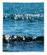 Sparkle Waves  Fleece Blanket
