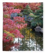 Sparkling Autumn Reflection Fleece Blanket
