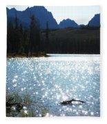 Sparkling Redfish Lake Fleece Blanket